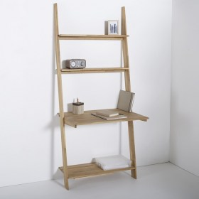 Domeno Solid Oak Wall-Mounted Shelving Unit